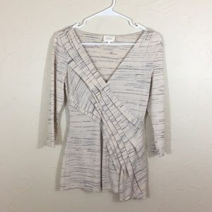 Anthropologie Deletta 3/4 Sleeve Top